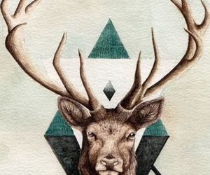wallpaper, hipster, and deer image