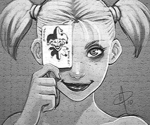 videogame, comic, and harley quinn image