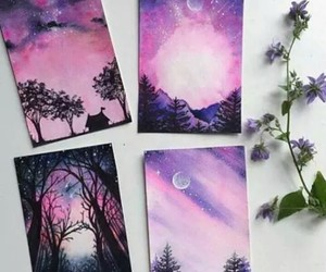 art, pink, and cosmic image
