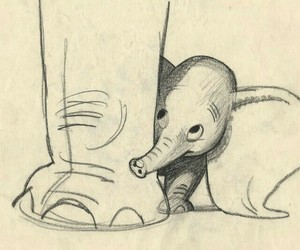 dumbo, drawing, and elephant image