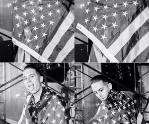 america, flag, and g-eazy image