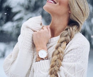 beauty, snow, and style image