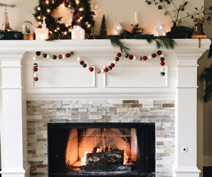 christmas and fireplace image