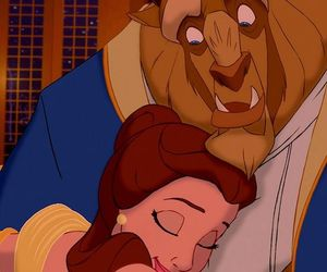 adam, beauty and the beast, and belle image