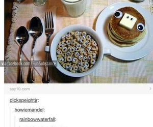 funny, tumblr, and breakfast image