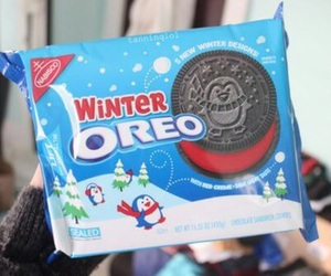 Cookies, oreo, and winter image