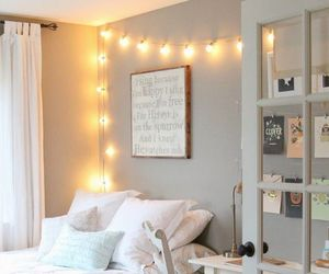 bedroom, bed, and room image