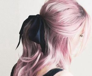 beauty, pink, and hair image