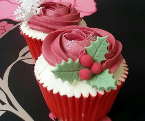 cupcakes, food, and holiday image