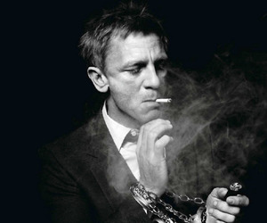daniel craig, James Bond, and smoke image