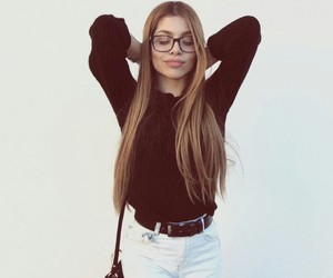 college, fashion, and long hair image