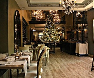 atmosphere, christmas, and restaurant image