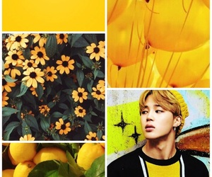 wallpaper, yellow, and bts image