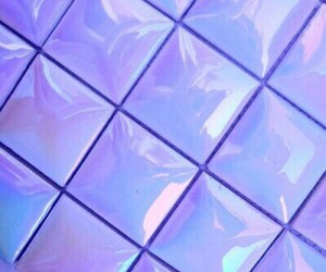 aesthetic, holographic, and purple image