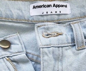jeans, blue, and american apparel image