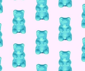 bear, blue, and wallpaper image