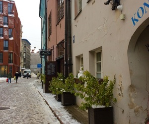 old town, riga, and winter image