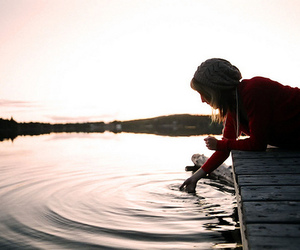 girl, water, and lake image