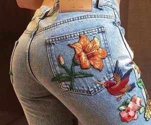 bad ass, flowers, and jeans image
