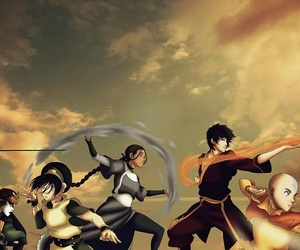 avatar, aang, and toph image