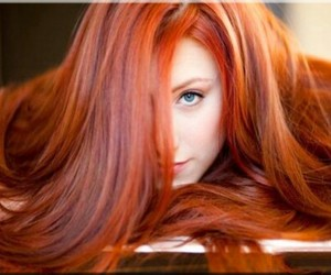 red hair girl image