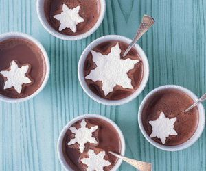 snowflake, chocolate, and winter image