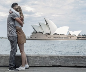 australia, couple, and hugging image