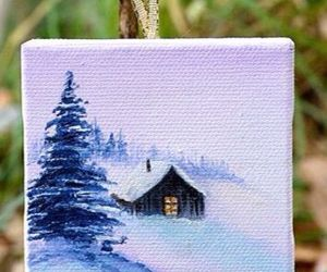 art, winter, and dessin image