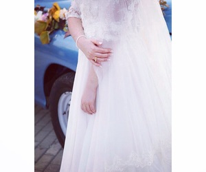 beautiful, dress, and weeding image