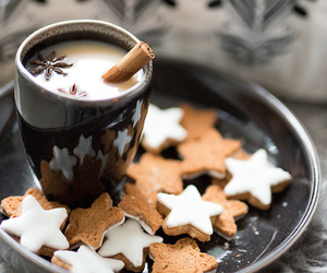 winter, coffee, and cookie image
