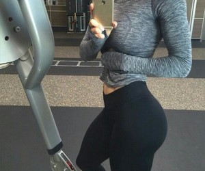 beauty, black, and fitness image