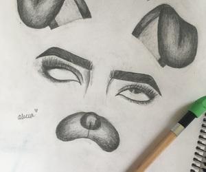 art, makeup, and drawings image