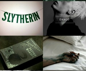 aesthetic, draco malfoy, and syltherin image