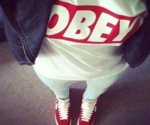 obey, swag, and red image
