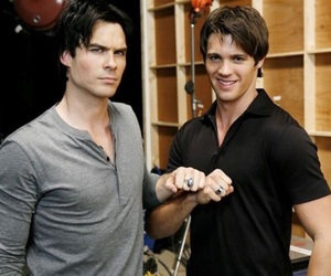 the vampire diaries, jeremy gilbert, and damon image