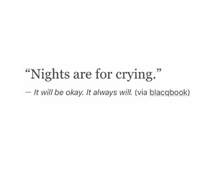night, quotes, and sad image