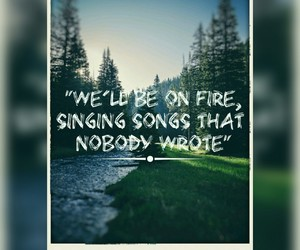 fire, forest, and Lyrics image