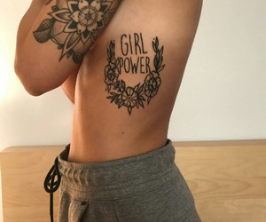 tattoo and girl power image