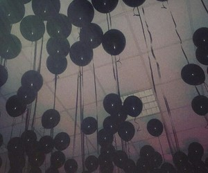 balloons, night, and tumblr image