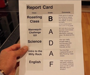 funny, report card, and parents be like image