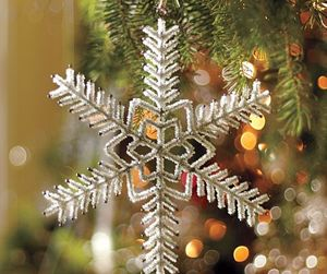 holiday, snowflake, and xmas trees image