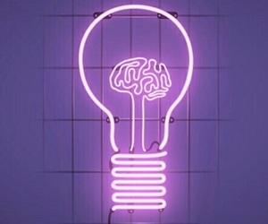 purple, neon, and light image