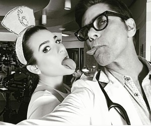 lea michele, scream queens, and john stamos image