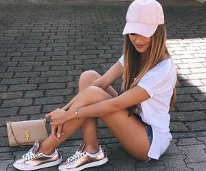 blonde, casual, and fashion image