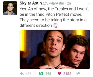 3, skylar astin, and pitch perfect 3 image