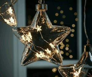 lights, christmas, and stars image