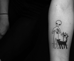 alien, tattoo, and Tattoos image