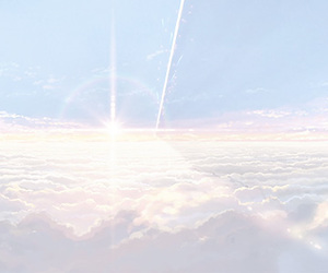 anime, blue, and pastel image