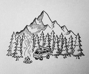 canada, car, and drawing image