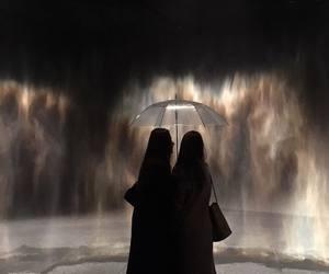 rain, art, and night image
